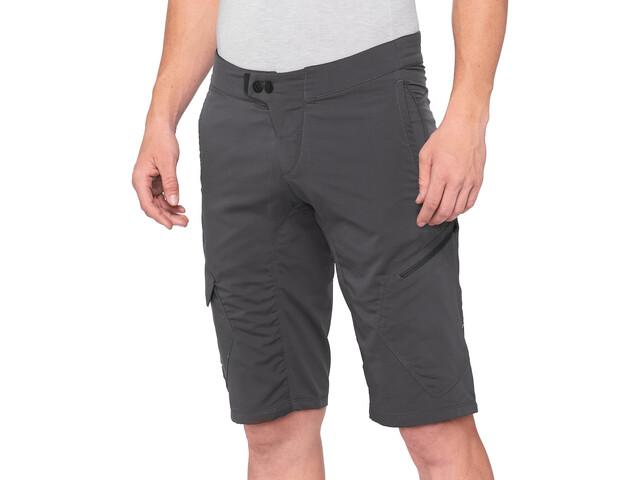 100% Ridecamp Pantaloncini Uomo, grigio